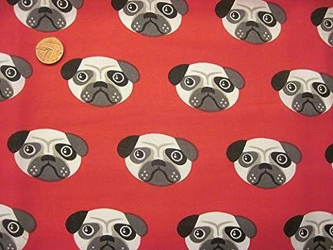 Prestige mignon Carlin Chiens Impression Crafts quilting Poly Tissu de coton