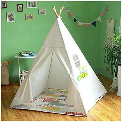 Niños gigante auténtico lienzo India Tipi trípode tienda del juego de los niños Hut Casa de los Niños