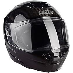 Lazer MLE041000D30L Monaco Evo Pure Carbon Casco Moto Modular, Negro Carbon, Talla L