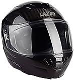 Lazer MLE041000D31L Monaco Evo Pure Carbon Casco Moto Modular, Negro Carbon, Talla XL