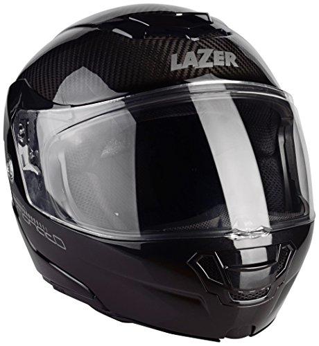 Lazer MLE041000D32L Monaco Evo Pure Carbon Casco Moto Modular, Negro Carbon , Talla XXL