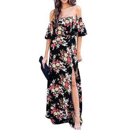 Streetwear Kleid VENMO Damen Festliche elegant Kleid Plus Size Damen Knielang Retro V-Ausschnitt Höhe Taille (Plus Size Dot Kleider Polka)
