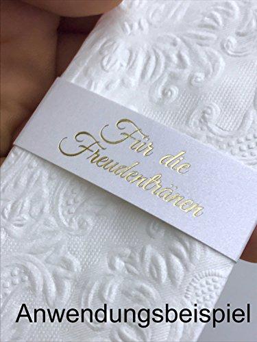 Freudentränen Banderolen für Taschentücher