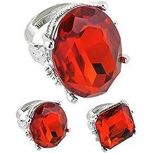 Widmann - AC0099 - Bague avec grosse pierre rouge differentes formes  assorties 203fe9d7daf