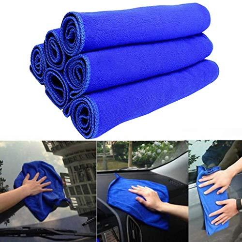 Preisvergleich Produktbild 12Pcs Auto Mikrofaser Reinigungstücher Kfz Mikrofasertuch Reinigung Trocknen Handtuch Poliertuch für Auto Waschen Lackieren Versiegelung Entfernung 30cmx30cm