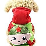 Bluelucon Haustier Bekleidung Haustier Bekleidung, Bluelucon Niedlich Hunde Katzen Cartton Hoodie Winter Hundebekleidung Hundemantel Haustier Warm Indoor Schlafanzug Hundejacke Sweatshirt Puppy Chihuahua Teddy Kostüm