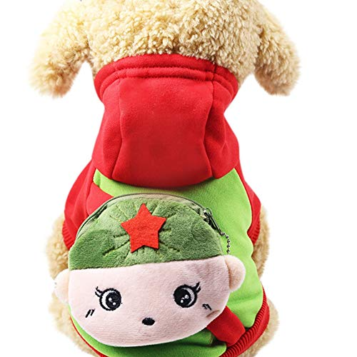 (Bluelucon Haustier Hund Katze Winter Warm Rollkragen Sweatshirt Mantel KostüM Bekleidung Jacke Kleider Hoodies Jumper Zum HüNdchen Klein Mittel Groß Hunde Overall Kleidung)