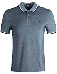 Fred Perry Hombres doble punta m3600 polo camisa Carbón