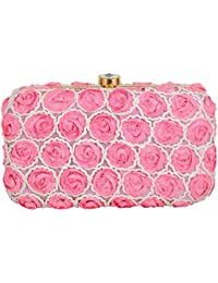 Tooba Women'S Pearl Small Rose Box Clutch …