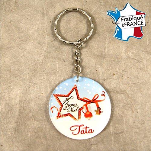 porte-clef-joyeux-noel-tata-cadeau-de-noel-pour-tata-decoration-de-sapin-