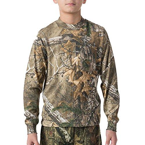 Walls - Jungen 56412 Langarm-Hemd mit Tasche, Small, Mossy Oak Brush