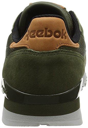 Reebok Classic Leather OL, Baskets Basses Homme Vert (Poplar Green/Steel/Semi Solar Gold/Ginger/Pewter)