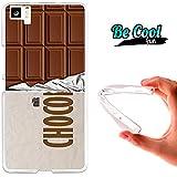 Becool® Fun - Funda Gel Flexible para Bq Aquaris M5 .Carcasa TPU fabricada con la mejor Silicona, protege y se adapta a la perfección a tu Smartphone y con nuestro diseño exclusivo Tableta de chocolate