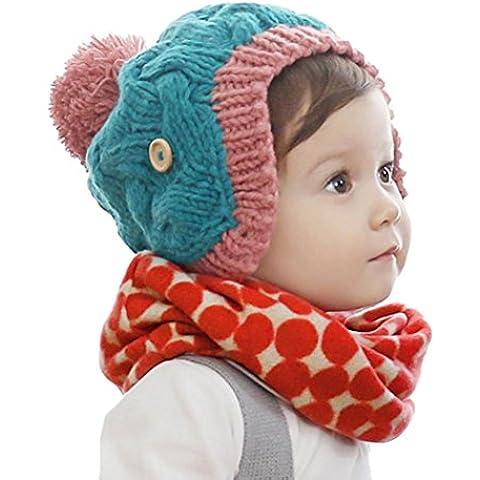 Bebé pañuelos de cuello, RETUROM el más nuevo estilo del invierno del otoño muchachas de los muchachos impresión del collar del bebé de la bufanda hecha punto anillo de O Pañuelos