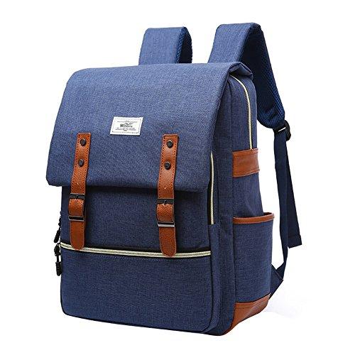 Nuovo studente delle donne sacchetto di scuola borsa da viaggio di piacere laptop bag bagaglio uomini coreani Oxford zaino Affari (blu) - Libro Blu Tovagliolo