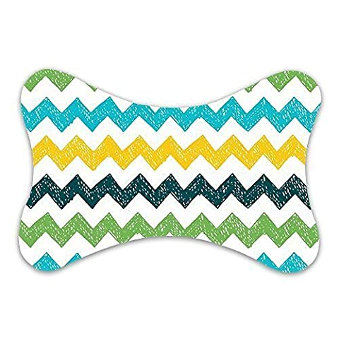Evergreen Fashion Seamless Hand Drawn Zig Zag Pattern Custom Car-seat Neck Pillow Travel Pillow (Only One)
