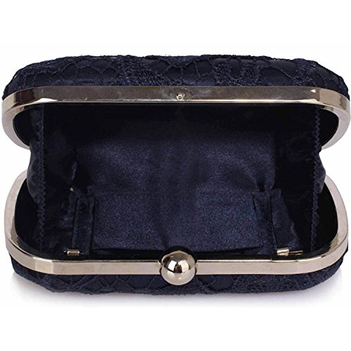 L And S Handbags, Poschette giorno donna Navy blue