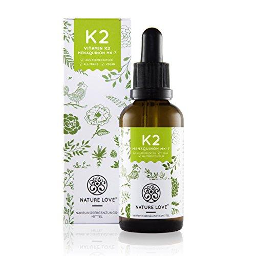Vitamin K2 MK-7 Tropfen 200 µg (mcg) - 50ml. Premiumqualität: VitaMK7 von Gnosis. Aktionspreis. Pflanzliches Menaquinon mit >99{f4e002a0d8984c611e8d954ce194f0882683a5f6f3716a6cc3dbb32ff33847ce} All Trans. Flüssig, hochdosiert, vegan, hergestellt in Deutschland