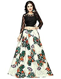 42dbbdf9e0b802 Libra Enterprise Women's Green Color Embroidered Lehenga Choli (Green_Free  Size)
