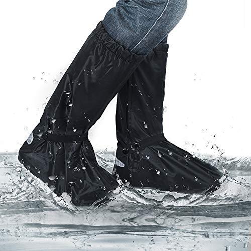 yotame Regenüberschuhe Wasserdicht Überschuhe Schnee Staub Schutz und rutschfeste Schuhüberzieher mit Reflektoren Perfekt für Outdoor,Camping Radfahren Bergsteigen auch bei Regen, Schnee oder Staub