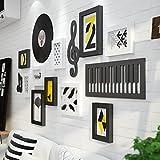 QU HUAI DONG AA Fotorahmen Klassische Musik Element Holz Foto Wand Wohnzimmer Schlafzimmer Rahmen Rahmen Wand Kreative Kombination Moderne Einfache Speise Fotowand Home (Farbe : A)