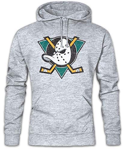 Urban Backwoods Ducks Hockey Hoodie Kapuzenpullover Sweatshirt Grau Größe L