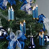 Triaden Lichterkette 48 Kerzen blau-metallic