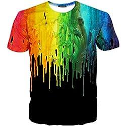 Camiseta con patrón Geométrico de pintura