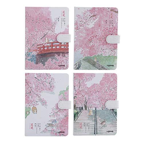 Cuaderno magnético de estilo chino, cuaderno de dibujo grueso, tamaño A5, cuaderno de dibujo, planificador de agenda, bloc de notas