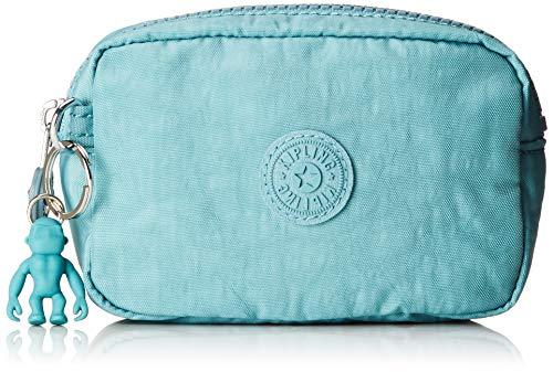 Kipling Damen Gleam S Münzbörse, Blau (Aqua Frost), 14x9.5x5.5 cm -