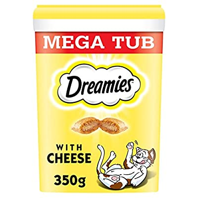 Dreamies Cat Treats With Cheese Megatub, 350 g, Pack of 2