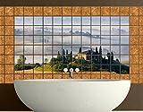 Apalis fliesenwandbild Kombi in Toskana, Tile Größe: 10cm x 10cm; Maße: 60x 120cm