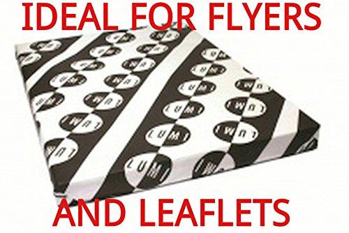 500fogli, 170g/m², A5lucido 2lati carta per stampante-Flyers/volantini-laser-digitale-Craft