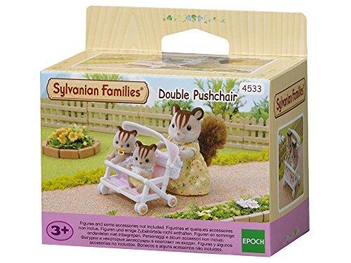 Sylvanian Families -4533 - Poussette Double - Poupées et Accessoires - Sylvanian