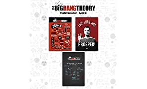 MC SID RAZZ Combo Pack of 3 The Big Bang Theory Infographic, Algorithm and Live Long Paper Posters without Frame 12 x 18 (Multicolored)