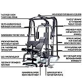 MARCY Luxus Smith-Maschine Heim-Gym mit Hantelbank Kraftstation, Schwarz, One Size - 3