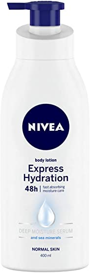 NIVEA Body Lotion, Express Hydration, For Normal Skin, 400 ml