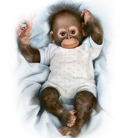 AshtonDrake BabyZachary Realistische Affenbaby-Puppe