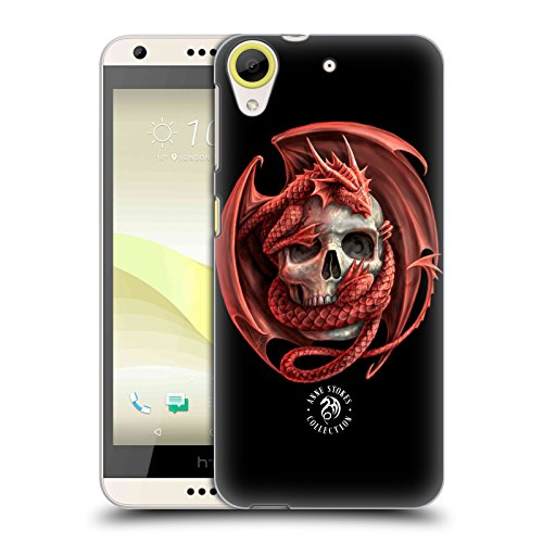 Official Anne Stokes Dragon and Skull Fire Tribal Hard Back Case for HTC Desire 650