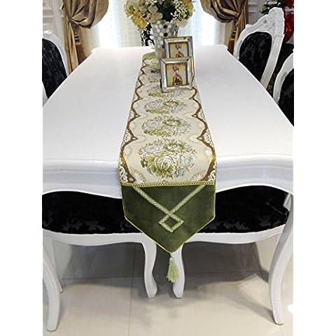 X&L Bandiera di ricamo table runner tavolo moda runner tavolo tavolo seta oro corridore tabella - Selvaggio Seta Erbe