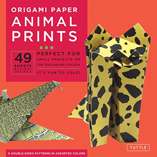 Origami Paper - Animal Prints - 8 1/4-49 Sheets: Tuttle Origami Paper: High-Quality Large Origami Sheets Printed with 6 Different Patterns: Instructions for 6 Projects Included