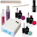 UV Nail Polish Set incl. UV-Lamp for UV Color It! - Sun Garden Nail