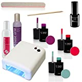 UV Nail Polish Set incl. UV-Lamp for UV Color It! - Sun Garden Nail