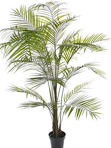 artplants Set 'Kunstpflanze Areca + Gratis UV Schutz Spray' - Kunstpalme Areka MELMAN, wetterfest, grün, 190 cm