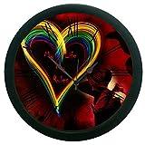 meSleep Heart 3D Wall Clock (With Glass)