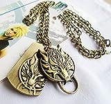 Baoleiju - Collar con Colgante de fantasía de Dragon Head Pattern Two Tag Final Fantasy con joyero, Collar Fantasy Final para niños Style B