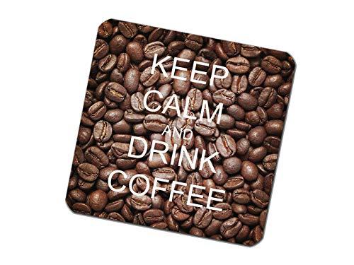 Untersetzer bedruckt 6er Set Keep Calm Coffee