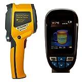 HoldPeak HP-950F Wärmebildkamera Infrarot-Thermometer -20 bis +300°C, 60x60 Pixel Thermokamera Wärmekamera Jagd Gelb