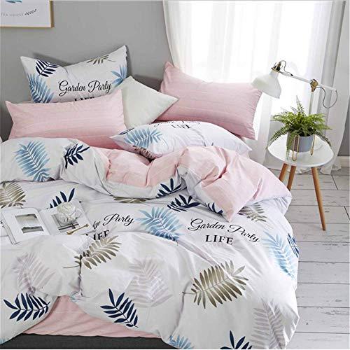 SHJIA Bettwäsche aus ägyptischer Baumwolle Set Blumenstickerei König Queen Size Duver Bettbezug Kissenbezug Bett Set F 150x200cm -