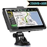 """5"""" GPS Automatique de Voiture Moto 8GB, X-EUCO Appareil de Navigation Écran Tactile, Intégrer Le Système des Instructions Vocales, Système de Navigation avec Multi-Langues Gratuites Cartes"""